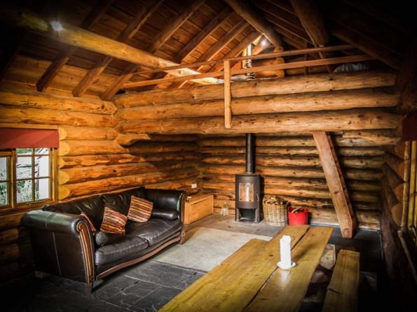 1 Bedroom Riverside Log Cabin In Lake District Woodland