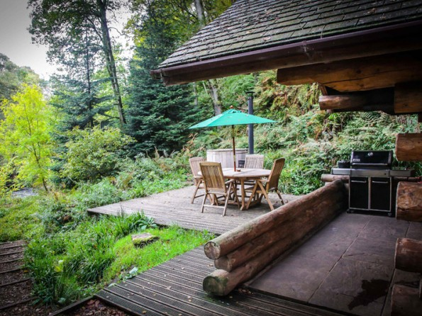1 bedroom riverside log cabin with private hot tub in lake for River view cabins