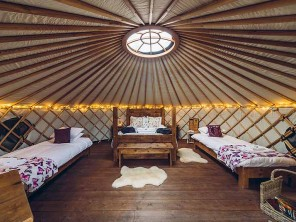 Cuckoo Yurt on a Glampsite in the Peak District, Hartington, Derbyshire, England