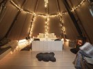 Hygge Tipi on a Glampsite in the Peak District, Hartington, Derbyshire, England