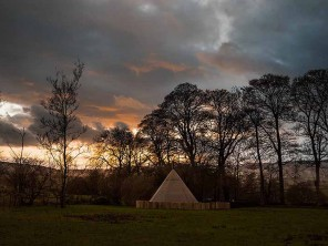 Whispering Trees Tipi on a Glampsite in the Peak District, Hartington, Derbyshire, England