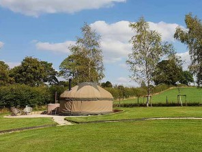 Woodpecker Yurt on a Glampsite in the Peak District, Hartington, Derbyshire, England
