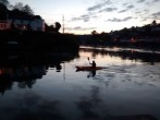 Evening canoeing