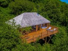 2 Bedroom Secluded and Luxurious Treehouse with Hot Tub in Woodland near Bratton Clovelly, Devon, England