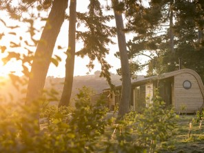 Willow Lodge Luxury Eco Pod with Hot Tub near Hay on Wye, Herefordshire, England