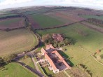 Aerial view of Barsham Barns