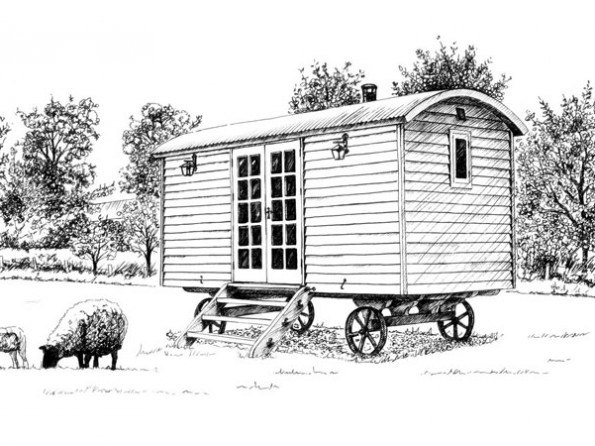 1 Bedroom Luxury Shepherd S Hut In England Oxfordshire