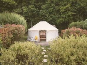 Larch Yurt with Private Garden on a Farm near Crewkerne, Somerset, England