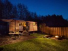 Romantic Shepherd's Hut Watch with Woodland Sauna & Lakeside Hot Tub near Crewkerne, Somerset, England