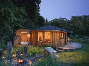 The Nest, Magical Rural Roundhouse with Woodland Sauna near Crewkerne, Somerset, England