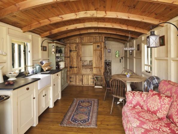 2 Bedroom Stylish Gypsy Caravan In England Suffolk Nr Woodbridge