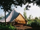 Glampsite with 4 Bell Tents near Bath in England, Wiltshire, Winsley
