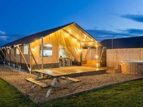 Zebra Safari Tent with Private Hot Tub near the Malvern Hills, Worcestershire, England
