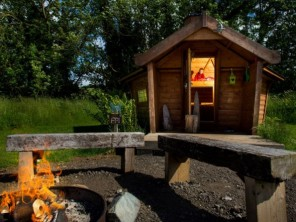 Family Eco Pod FP1 in Manor House Grounds, North Yorkshire Moors, Yorkshire, England