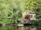 2 Bedroom Lakeshore Cabin in France, Nouvelle Aquitaine, Piegut-Pluviers