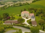 La Maison de Maitre from the air