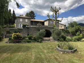 8 Bedroom Manor House with Pool in France, Languedoc-Roussillon, Aubenas