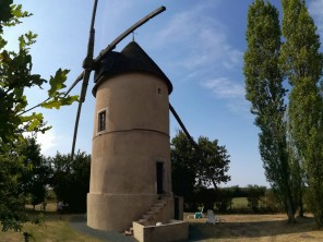 1 Bedroom Romantic Windmill in a Village Setting near Fontenay Le Comte, Vendee Region, France