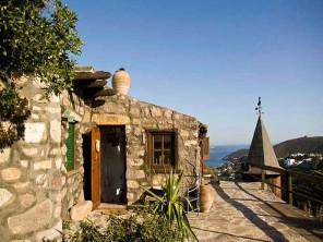 3 Bedroom Quirky Hillside Villa with Sea Views on the Island of Patmos, Dodecanese, Greece