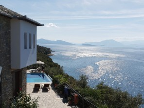 7 Bedroom Beachfront Villa in Greece with Pool & Panoramic Views near Pelion, Mainland Greece