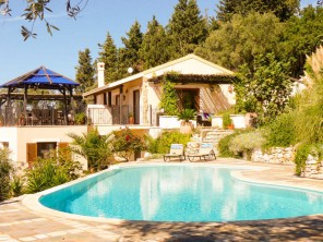 4 Bedroom Mountain and Seaview Villa with Pool near Spartilas, Corfu, Ionian Islands, Greece