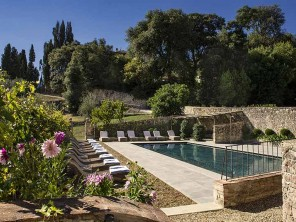 7 Apartments on a Country Estate with Pool in San Donato in Collina, Tuscany, Italy