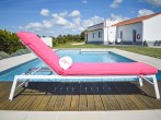 Sunlounger and pool