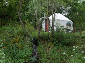 Glamping in Yurts and Domes on a Riverside Farm in Serra da Estrela, Central Portugal