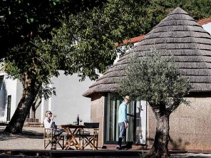 Luxury Glamping in Thatched Roundhouses with Pool in Marvao, Alentejo, Portugal
