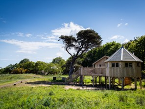 3 Bedroom Luxury Treehouses on the Beach at Lochhouses, nr Edinburgh, Scotland