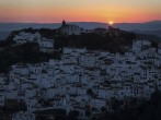 Casares at sunset