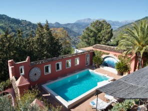 Unique 2 bedroom Moorish-style Apartment with swimming pool and exotic garden in Gaucín village, Andalucia, Spain