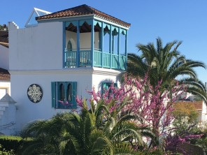 Enchanting Moorish-Style tower house with wonderful views, exotic garden & large pool in the centre of Gaucín, one of the celebrated white villages of Andalucia