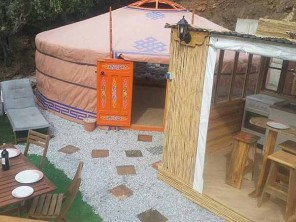 Mongolian Yurt with Private Pool near Algarrobo, Andalucia, Spain