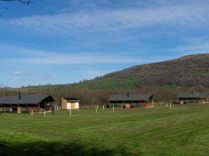 Two and Three Bedroom Luxury Safari Lodges with Hot Tubs in Talybont, Welsh Borders, Wales