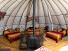Glamping in an Iranian Alachigh in rural Camarthenshire, Wales