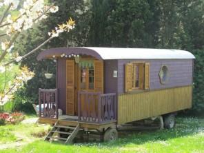 1 bedroom Gipsy Caravan near Montmaur, Aude, Languedoc-Roussillon, France