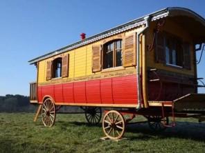 1 bedroom Gipsy Caravan near Ploemel, Morbihan, Brittany, France