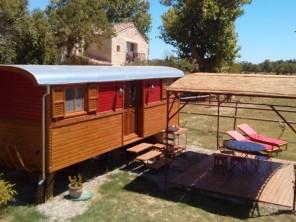 1 bedroom Gipsy Caravan near Le Cailar, Gard, Languedoc-Roussillon, France