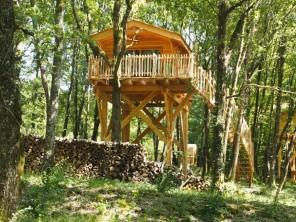 1 bedroom Treehouse near Monsac, Dordogne, Nouvelle-Aquitaine, France