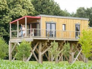 2 bedroom Cabin on Stilts near Caro, Morbihan, Brittany, France
