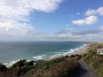 View from the clifftop path leading to property