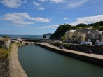 The pretty harbour at Charlestown