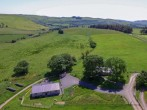 Fabulous aerial view of the two lodges on site