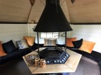 Cosy interior of the BBQ hut