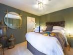 The birdcage bedroom on the ground floor