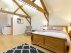 Open plan living in the separate lodge