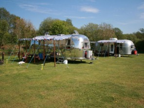 Airstream Caravans near the Coast in Saxmundham, Suffolk, England