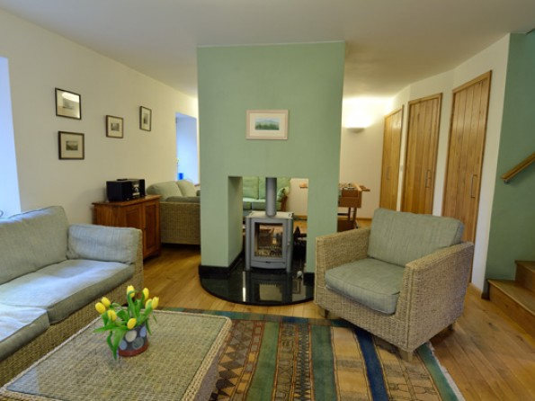 4 bedroom eco friendly house in wales powys brecon for Beautiful sitting rooms