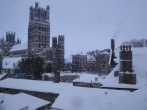 Ely Cathedral in snow